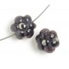 Lamp Bead Petite Fleur 2Pc 12mm Violetto